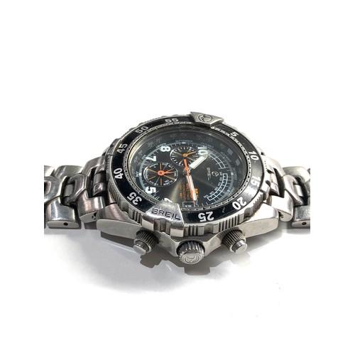 497 - Gents Breil world timer chronograph wristwatch spares or repair