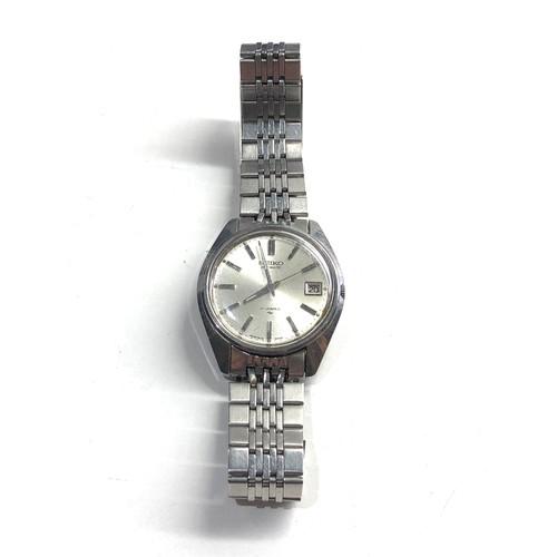 498 - Vintage s-steel 1970's Seiko 7005-8022 classic 17 Jewel automatic Datejust watch working order no wa...