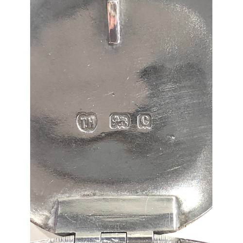 12 - Antique silver tobacco box Birmingham silver hallmarks age related dents please see images for detai...