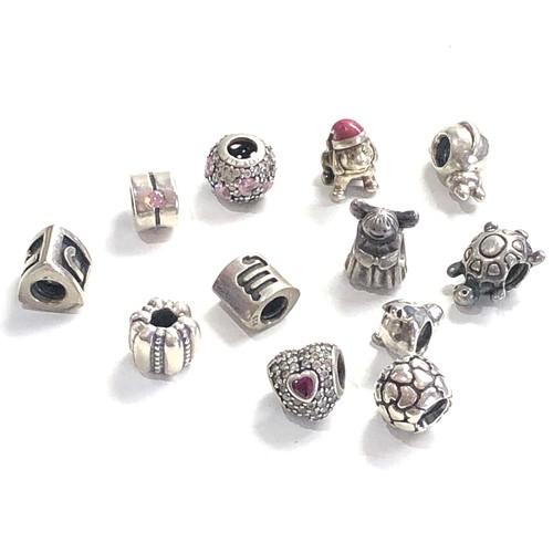 78 - 12 Vintage silver pandora charms