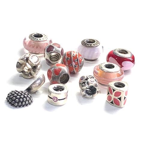 79 - 12 Vintage silver pandora charms