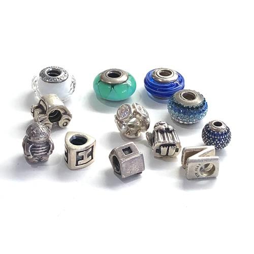 80 - 12 Vintage silver pandora charms