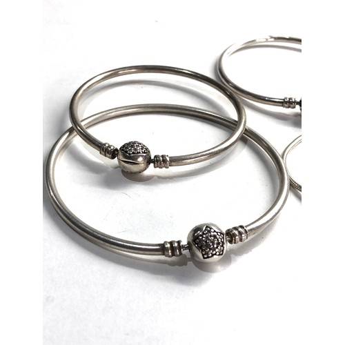 91 - 4 silver pandora bracelets