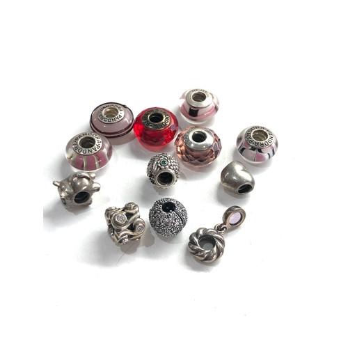 92 - 12 vintage silver pandora charms