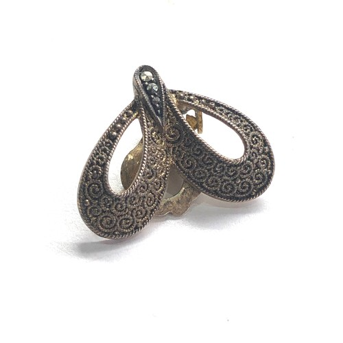 110 - Theodor Fahrner Art Nouveau  Silver earrings
