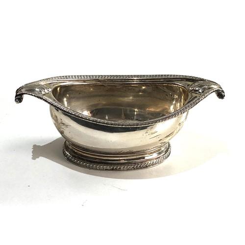 17 - Fine Georgian silver salt cellar measures approx 13cm by 6.5cm height 4cm full london silver hallmar...