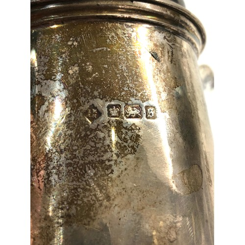 21 - 2 Silver water jugs Sheffield silver hallmarks total weight 805g age related marks dents etc