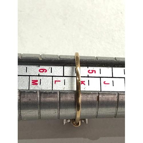 120 - 9ct gold ruby diamond ring 1.2g