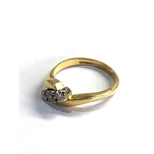 125 - 18ct gold diamond ring 0.25ct diamonds weight 4.3g