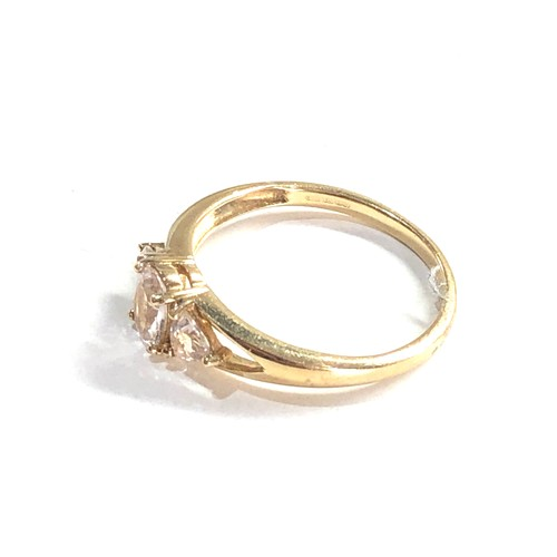 139 - 9ct gold stone set dress ring weight 1.6g