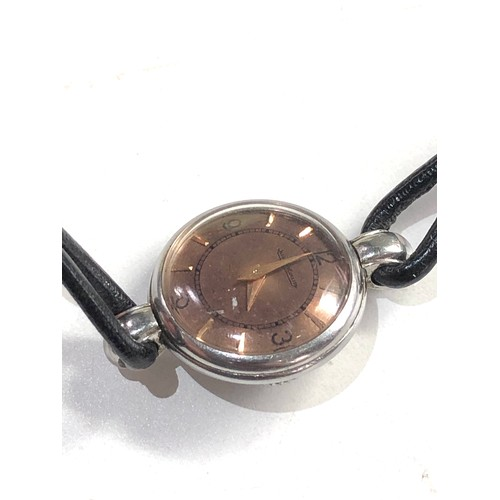 518 - Ladies vintage Jaeger -lecoultre wristwatch back wind watch winds and ticks but no warranty given