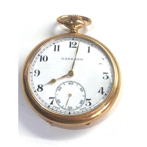 544 - Garrard rolled gold pocket watch british rail presentation engraved watch ticks but stops no warrant...