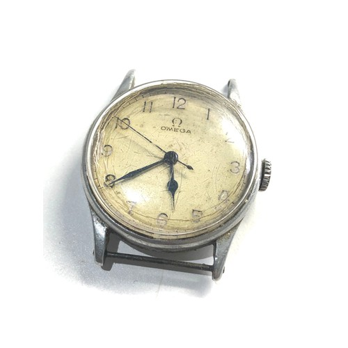 523 - WW2 Period circa 1940s Omega gents wristwatch 30t2 sc 16 jewel omega signed movement requires restor...