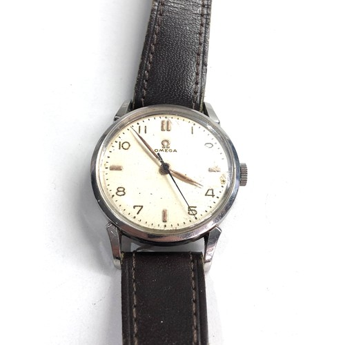 513 - Vintage gents omega wristwatch hand wind in working order but no warranty given