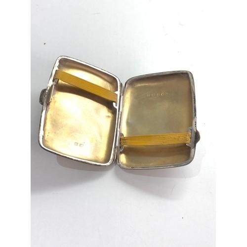 37 - Silver cigarette case weight 52g