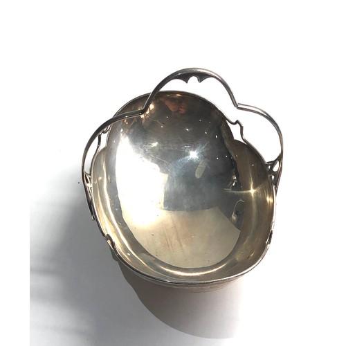 63 - Antique small silver basket by brooks & son Edinburgh Sheffield silver hallmarks weight 140g