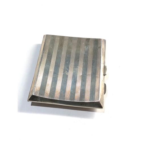 38 - Silver cigarette case Chester silver hallmarks weight 80g