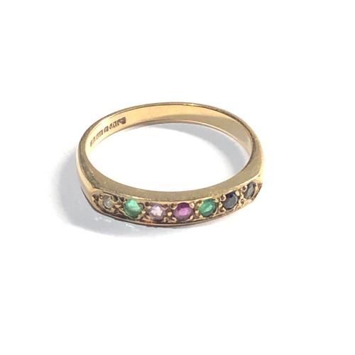 484 - 9ct gem set ring 2.1g