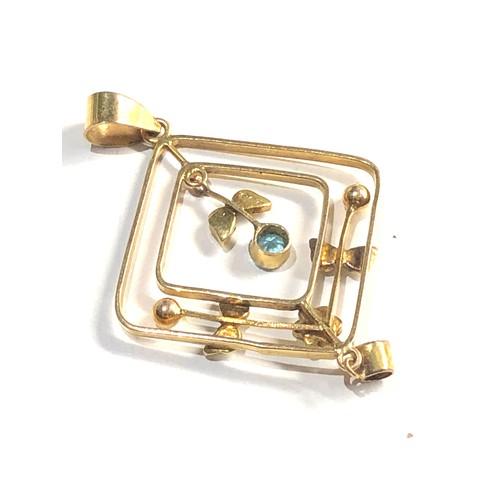 402 - 9ct gold antique pendant 2g