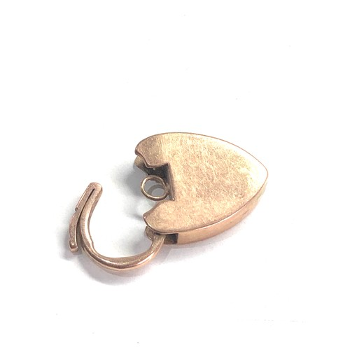 456 - 9ct gold vintage charm bracelet padlock 4.5g