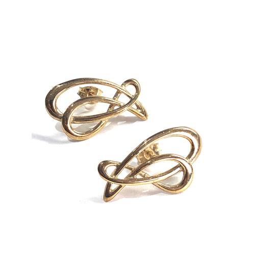 369 - 9ct ola gorie cutwork earrings 2.6g
