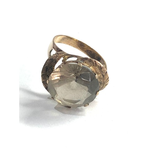 287 - Vintage 14ct gold solitaire cocktail ring weight 4.2g