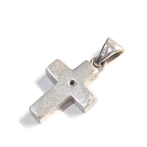 333 - Small 18ct White gold diamond set cross 2.9g