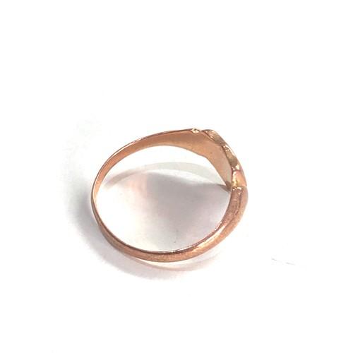 192 - Antique 9ct Gold engraved crest signet ring 2g