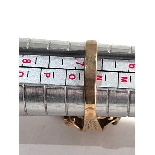 257 - 9ct Vintage citrine dress ring 3.9g