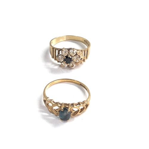 396 - 2 x 9ct gold dress rings weight 3.3g