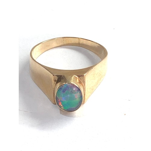 180 - Vintage 9ct gold opal ring 6.1g