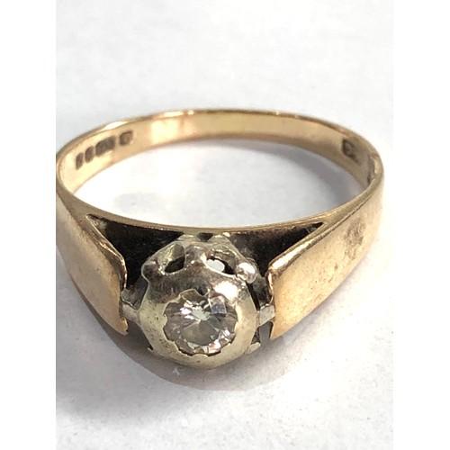 343 - Vintage 9ct gold diamond ring 2.6g