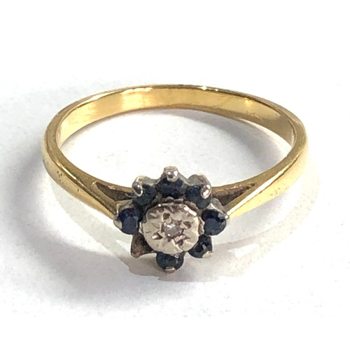 235 - 18ct gold sapphire & diamond cluster ring 2.1G