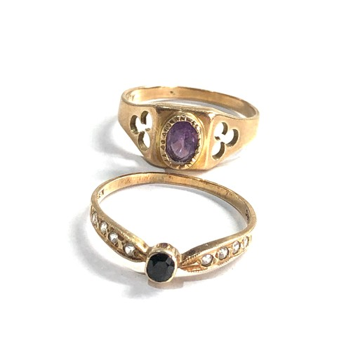 330 - 2 x 9ct gold dress rings weight 3g