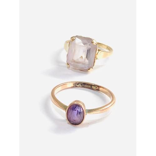 185 - 2 x 9ct rings dress rings 4.6g