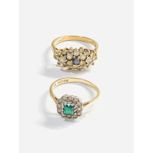 379 - 2 x 9ct gold  dress rings 4.9g