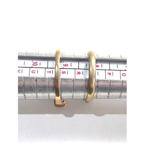 472 - 2 x 9ct  rings inc. amethyst, garnet 5.7g