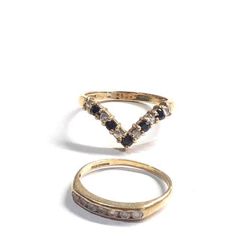 438 - 2 x 9ct Gold rings 4.2g