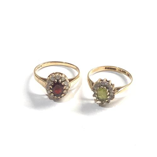 466 - 2 x 9ct Gold dress rings 3.8g