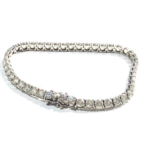 400 - 9ct cz tennis bracelet 12.5g