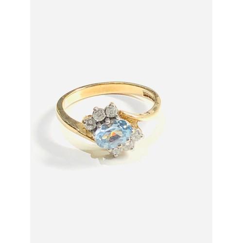 203 - 9ct dress ring 2.9g