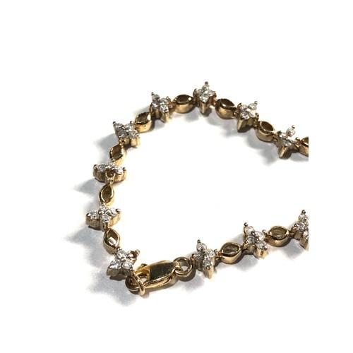339 - 10ct diamond tennis bracelet 7.3g
