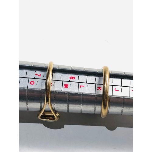 244 - 2 x 9ct Gold opal rings 3.7g