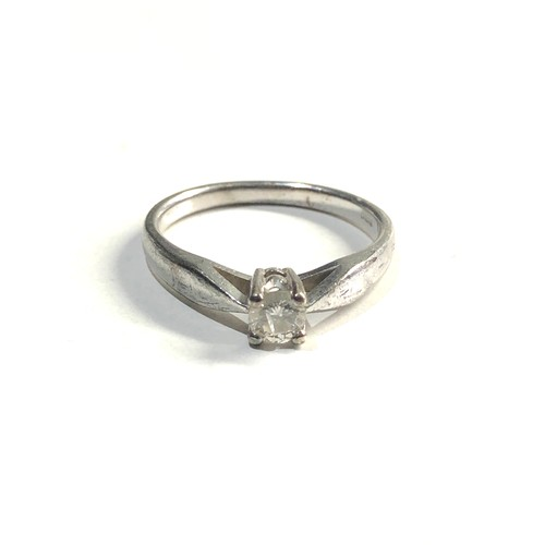 190 - 9ct white gold diamond ring