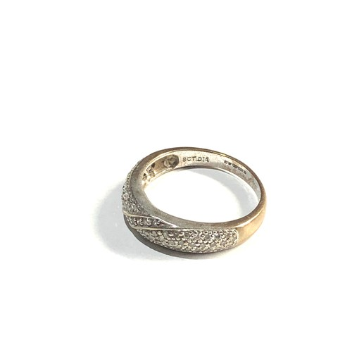 158 - 9ct gold diamond ring 2.6g