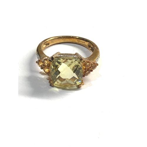 336 - 9ct gold stone set dress ring 4.3g