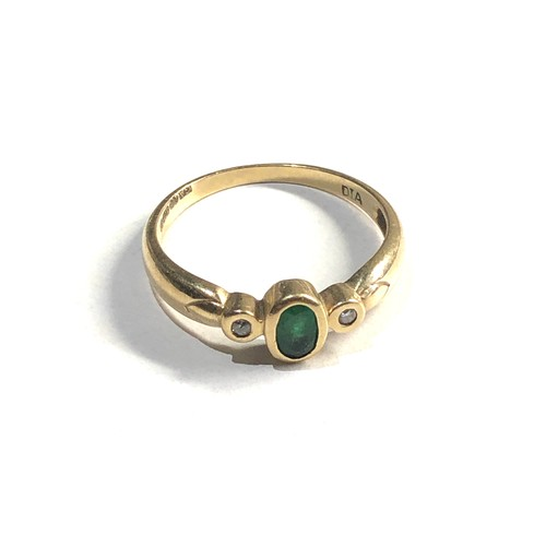 270 - 9ct gold diamond and emerald ring 2g