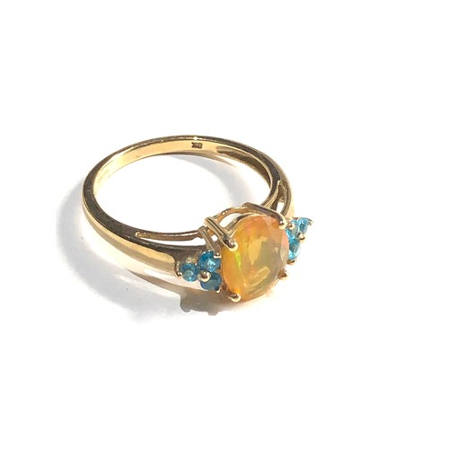 308 - 9ct gold fire opal  ring 2.2g