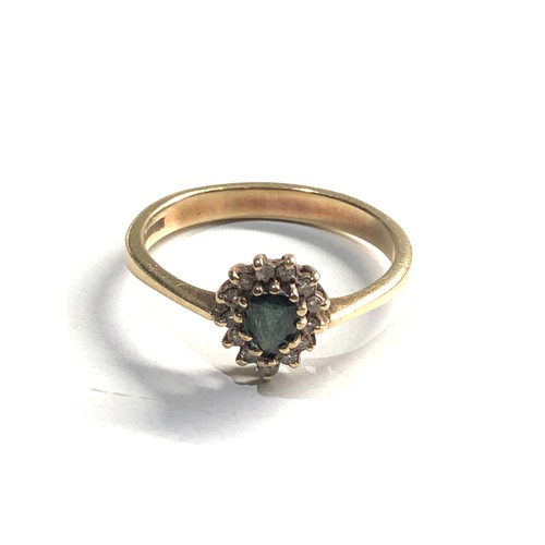 358 - 9ct gold diamond and sapphire ring 3g