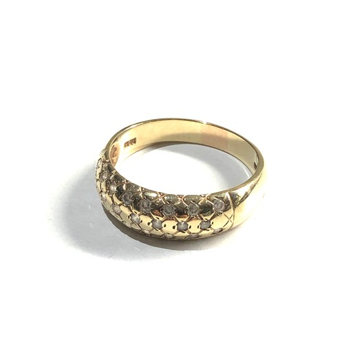 334 - 14ct stone set ring 6.2g